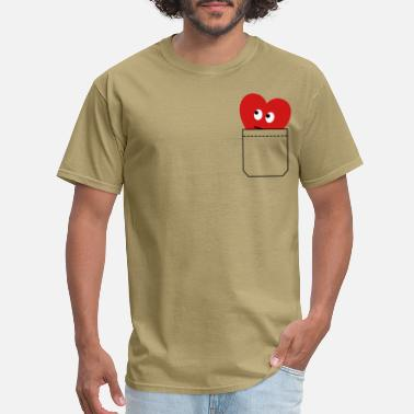 I Love heart in pocket - Men's T-Shirt