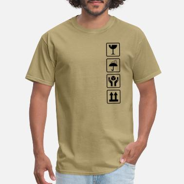 Cardboard Cardboard box shipping symbols - Men's T-Shirt