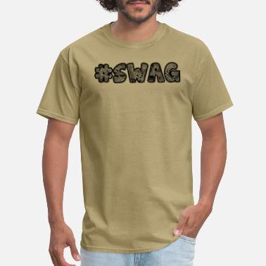 Hashtag Swag hashtag swag black ornaments psychedelic gift idea - Men's T-Shirt