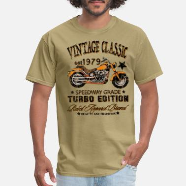 Outdoor Vintage Classic Motorcycle - Men's T-Shirt