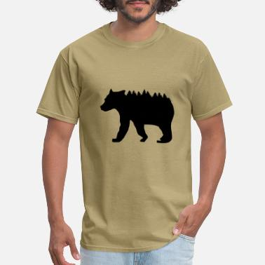 Bear In Forest Bear and Forest - Men's T-Shirt
