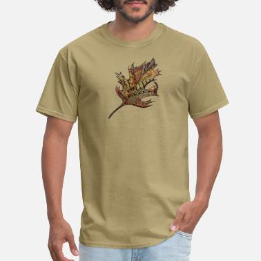 Martina Autumn leaf doodle hand painted - Men's T-Shirt