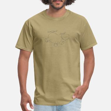 Fat Hippo flying hippo - Men's T-Shirt