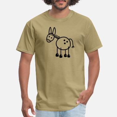 Stubborn donkey - Men's T-Shirt