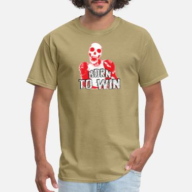 skull boxing - born to win - Men's T-Shirt