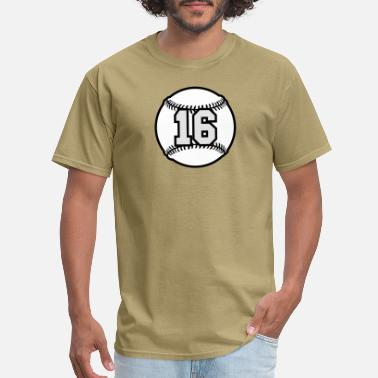 16th Birthday 16 Baseball Raster 3_color TAS - Men's T-Shirt