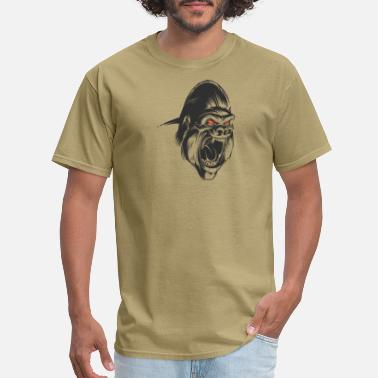 ad6d9d702 Gorillas Wildlife Animal gorilla head monkey wildlife vector image -  Men's T. Men's ...