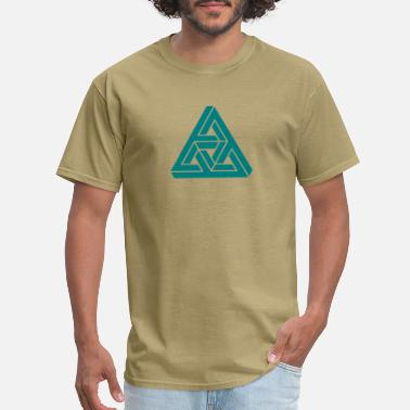 Impossible Impossible triangle optical illusion, Escher,  - Men's T-Shirt