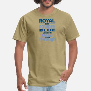 Royal Blue royal and powder blue - Men's T-Shirt