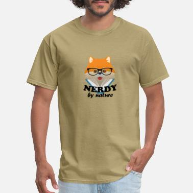 d2d92c11 Nerdy by nature – Funny cute dog nerd Shiba Inu - Men's. Men's T-Shirt