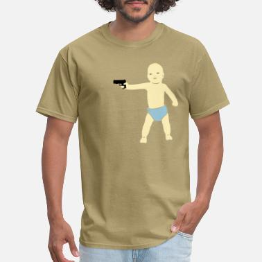 Humor baby gun - Men's T-Shirt