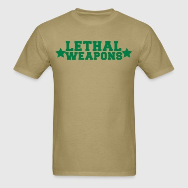 my breasts are lethal weapons with stars - Men's T-Shirt