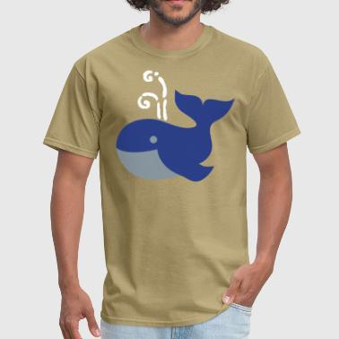 cute plump whale vintage whimsical - Men's T-Shirt
