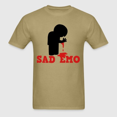 SAD EMO with blood - Men's T-Shirt