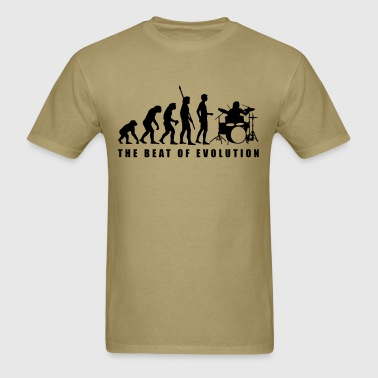 evolution_drummer_c_1c - Men's T-Shirt