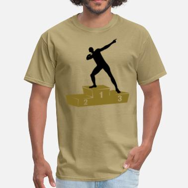 Bolt Pose Usain Bolt podium - Men's T-Shirt
