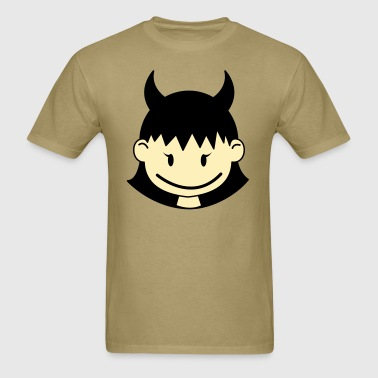devil little girl cute ! - Men's T-Shirt