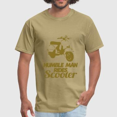 humble man rides scooter - Men's T-Shirt