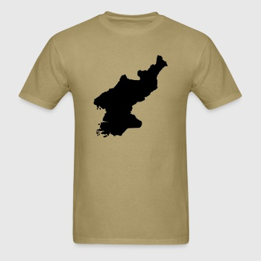 North Korea Map - Men's T-Shirt
