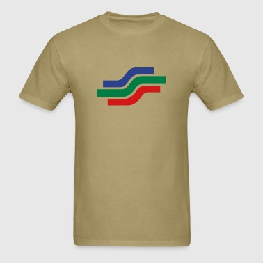 Stream - THREE COLOR VECTOR - Men's T-Shirt