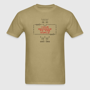ascii art: troll - Men's T-Shirt