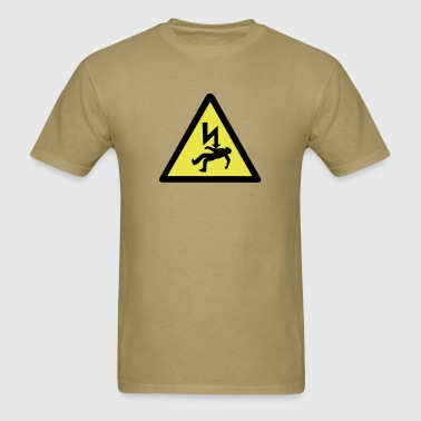 Danger of electric shock. - Men's T-Shirt