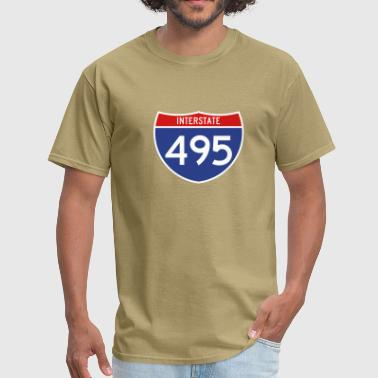 Interstate 495 3-color - Men's T-Shirt