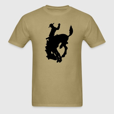 Cowboy Mustang Rodeo Texas 1c - Men's T-Shirt