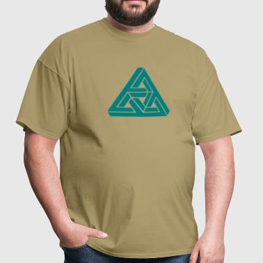 Impossible triangle optical illusion, Escher,  - Men's T-Shirt