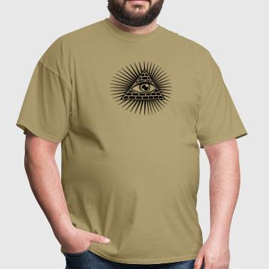 eye of providence, pyramid, all seeing eye, god - Men's T-Shirt