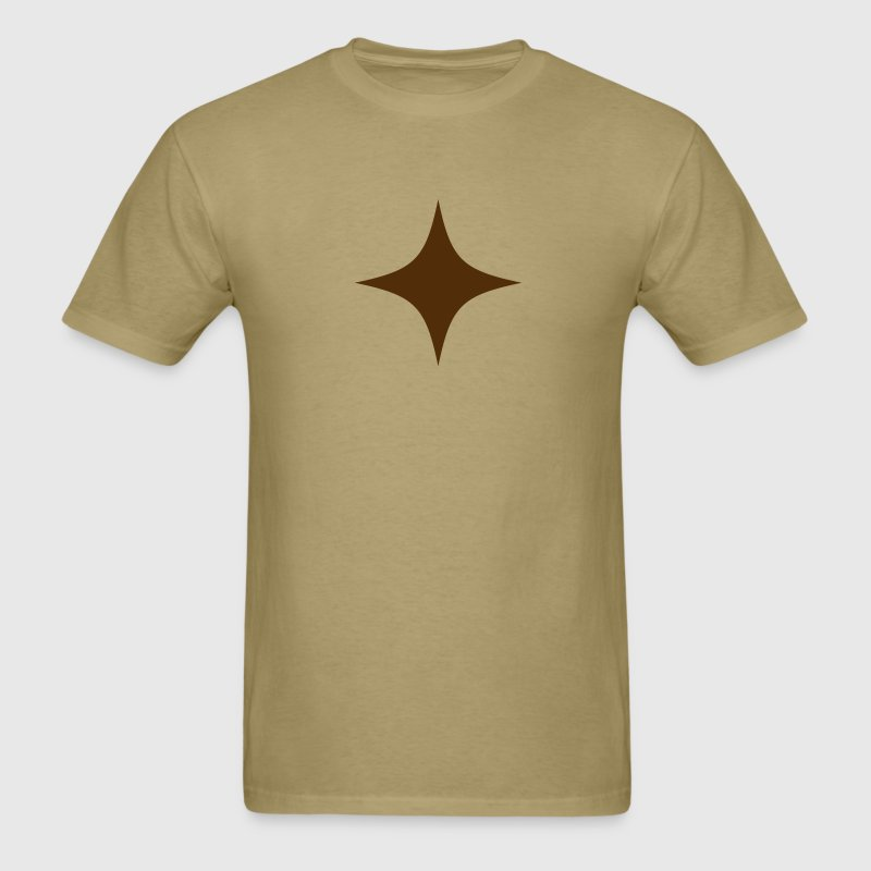 simple 4 point star - Men's T-Shirt