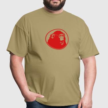Nerdy Ape with Glasses - Men's T-Shirt