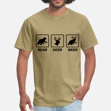 Beer Deer Bear funny_beer_tshirt - Men's T-Shirt