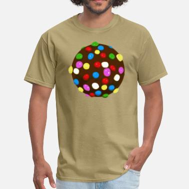 Crush Chocolate Candy Color Ball - Men's T-Shirt