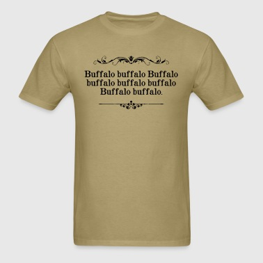 Buffalo Buffalo Sentence - Men's T-Shirt