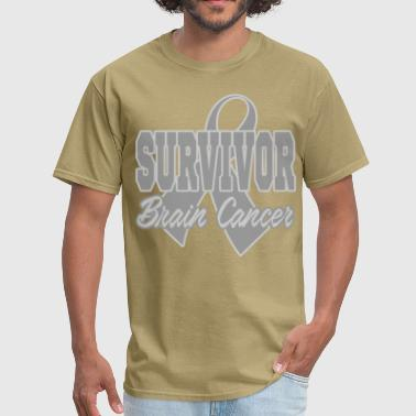 brain cancer 232.png - Men's T-Shirt