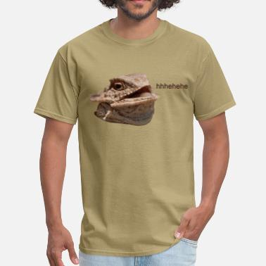 Hehe Laughing Iguana HeHe Lizard - Men's T-Shirt