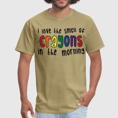 I Love The Smell Of Napalm In The Morning Crayons - Men's T-Shirt