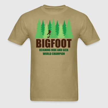 Bigfoot Sasquatch Hide and Seek World Champion - Men's T-Shirt