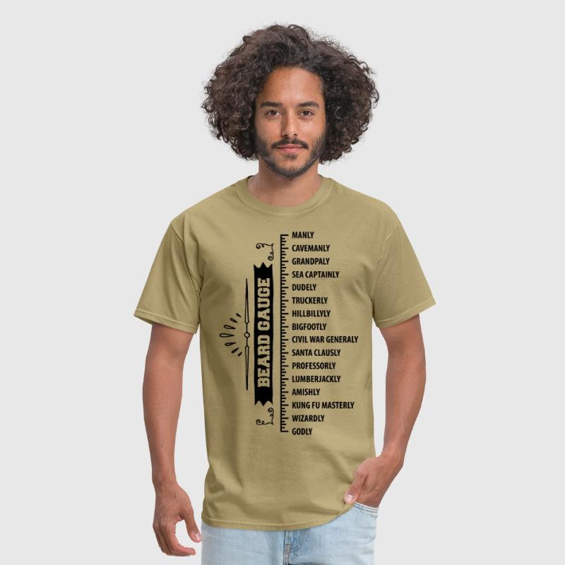 The Beard Gauge - Men's T-Shirt