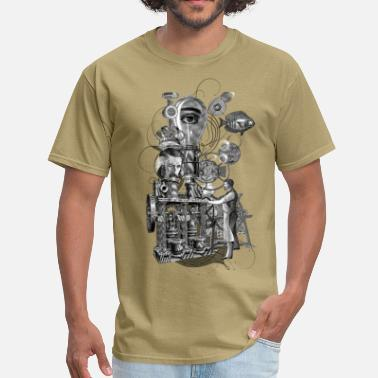 Antique Surreal machine - Men's T-Shirt