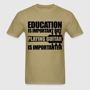 Education Playing Guitar BK - Men's T-Shirt