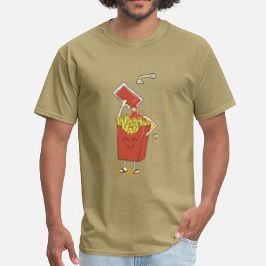 Ketchup And Fries Funny fries with ketchup - Men's T-Shirt