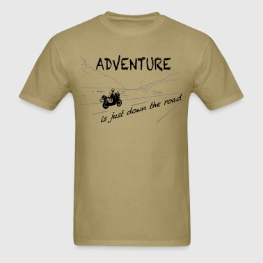 Adv is just down the road  - Men's T-Shirt
