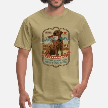 Hunting Dog labrador_and_pheasant_c - Men's T-Shirt