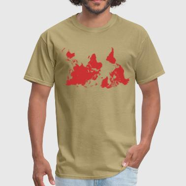 World Map Upside Down World Map - Men's T-Shirt