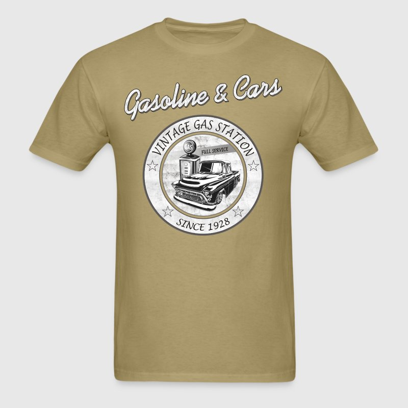 Vintage Gasoline & Cars - Men's T-Shirt