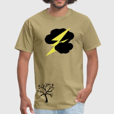 Dark clouds thunder lightning - Men's T-Shirt