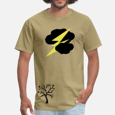 Thunder Dark clouds thunder lightning - Men's T-Shirt