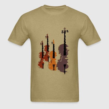 Quartet of bowed string instruments - Men's T-Shirt